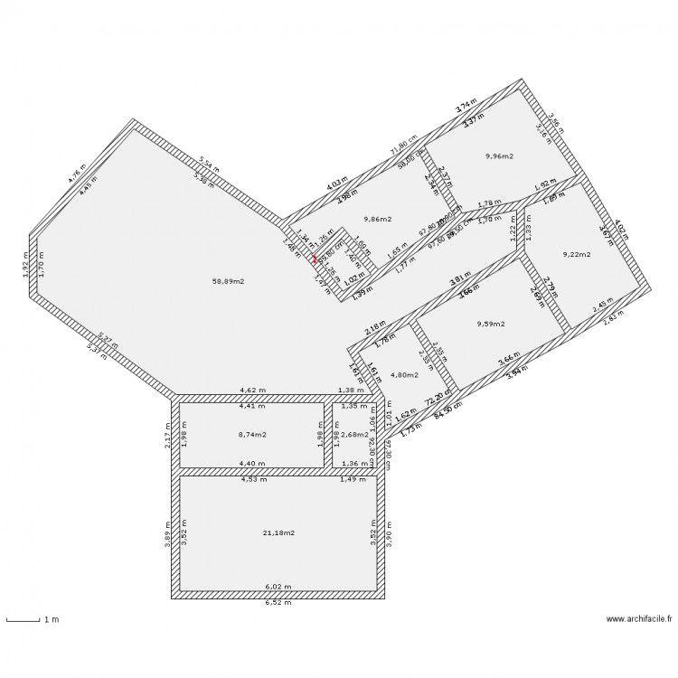 Maison en y+plan | Plan maison 4 chambres, Plan de maison mitoyenne