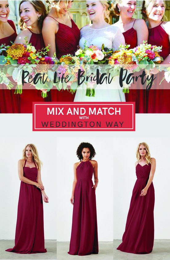 Cabernet Mix and Match Bridesmaid Dresses | The Council | Pinterest ...