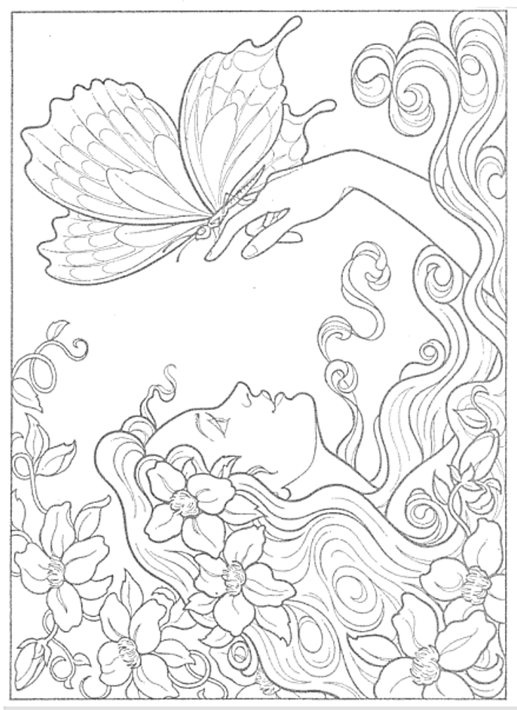 Fairies To Paint Or Color Coloring Book Dover