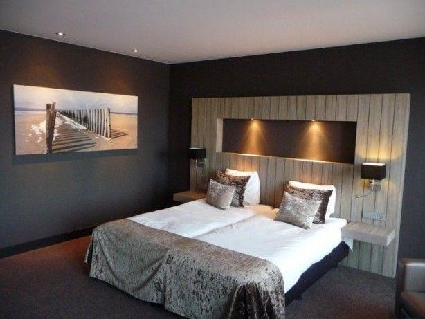Mooi steiger hout bed achterwand pinterest hout slaapkamer en slaapkamers - Grijze hoofdslaapkamer ...