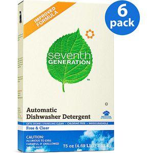 Seventh Generation Auto Dish Powder Free Clear 75 Oz 6 Pack