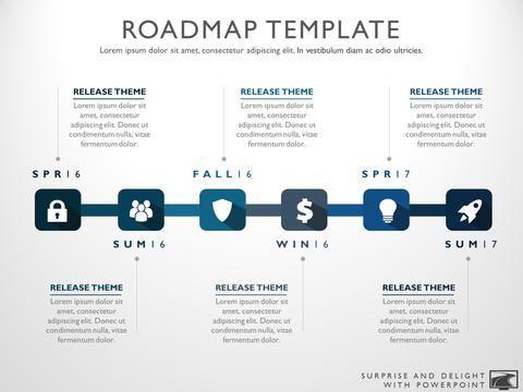 Six Phase Product Development Timeline Roadmap PowerPoint Diagram