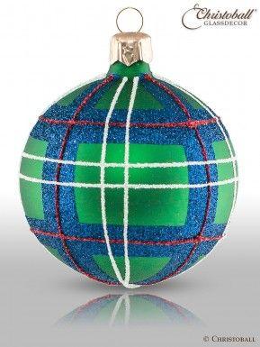 Christbaumkugeln Kariert.Tartan Karo Weihnachtskugeln Sutherland Style 6er