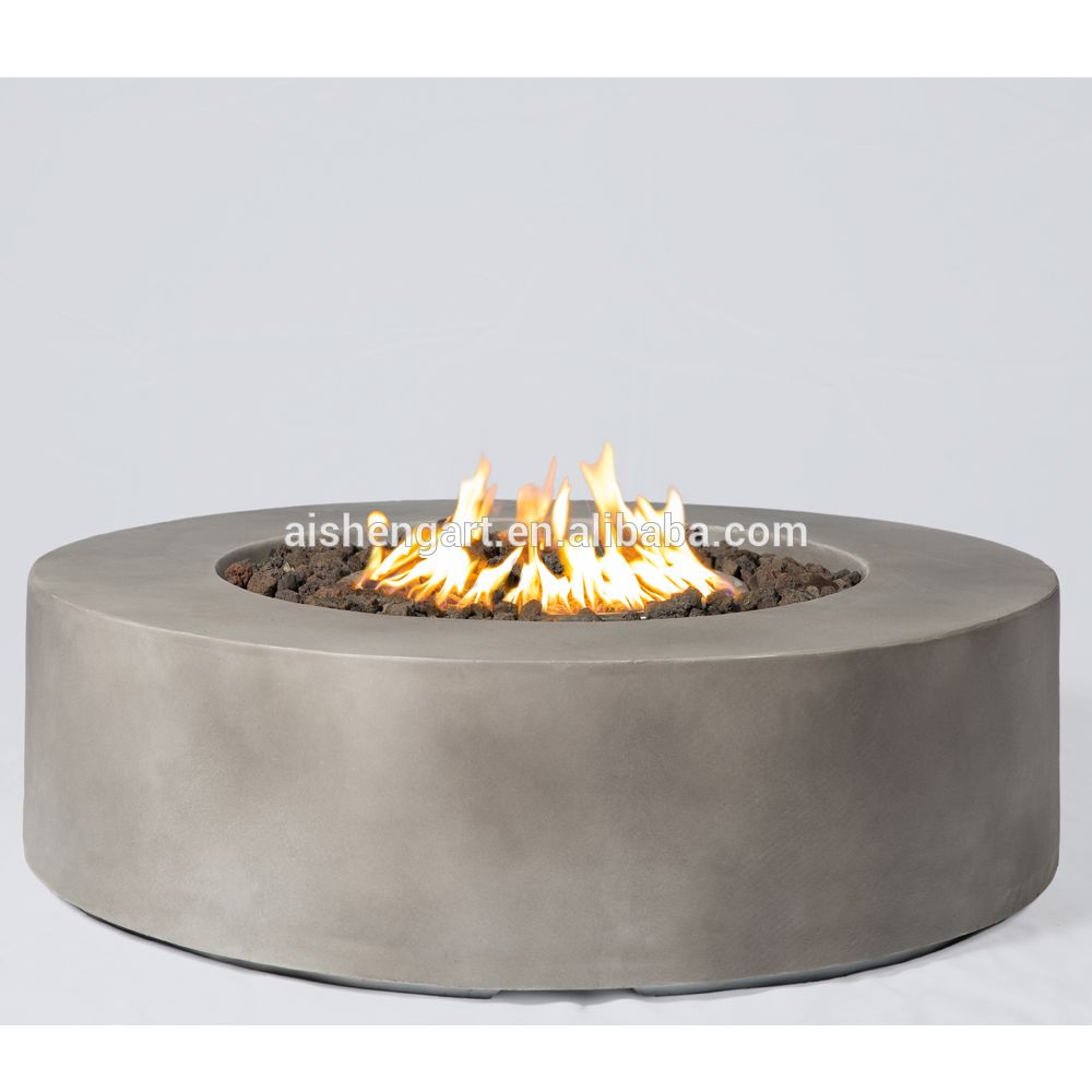 Baltic round propane fire pit tableglacier gray buy firepitgas
