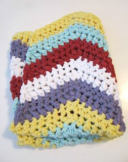 Made From Scratch: Chunky Chevron, actual blanket GIVEAWAY! and free pattern