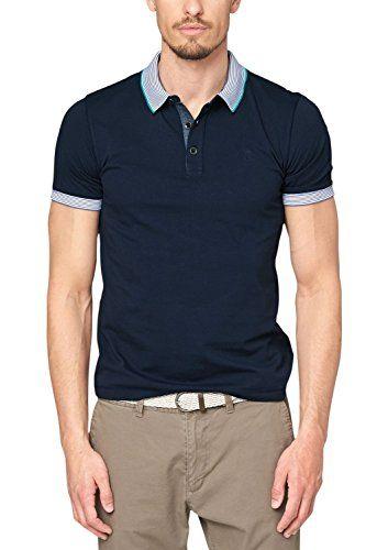 s.Oliver Herren Poloshirt mit Knopfleiste, Einfarbig, Gr. X-Large, Blau  (midnight 5798) | Poloshirts | Pinterest