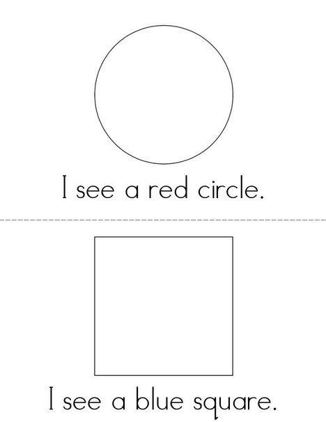I SEE color and shape book from TwistyNoodle.com | preschool ...