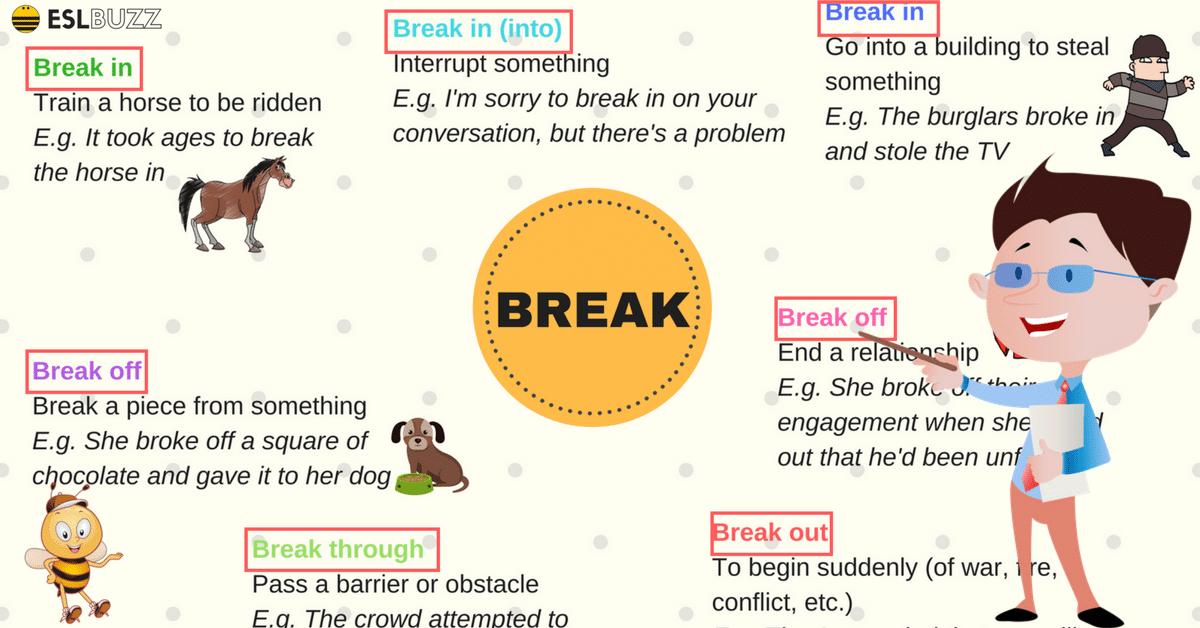 To break phrasal verbs