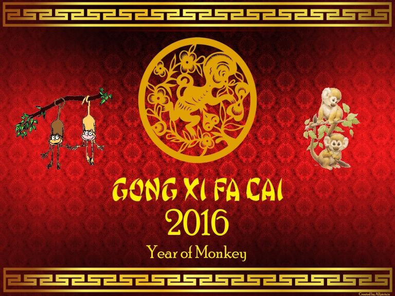 chinese new year 2016 greetings and wishes in a series of slides