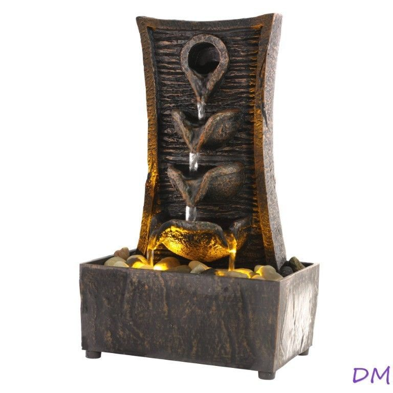 Tranquility Drip LED Lighted Indoor Tabletop Fountain Battery Operated