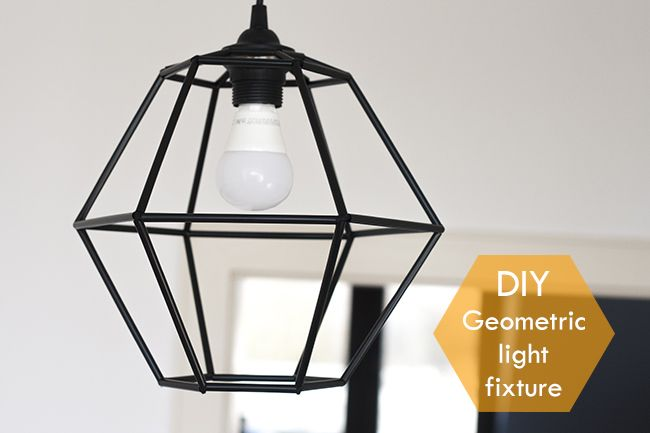 DIY Geometric Pendant Light Fixture - Pearls and Scissors