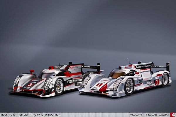 Audi R18 ultra (left) and R18 e-tron quattro (right). Photo by Audi AG.