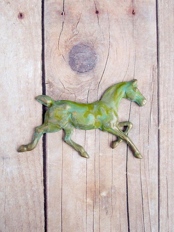 Horse Brooch Equestrian Jewelry on Etsy, $18.00