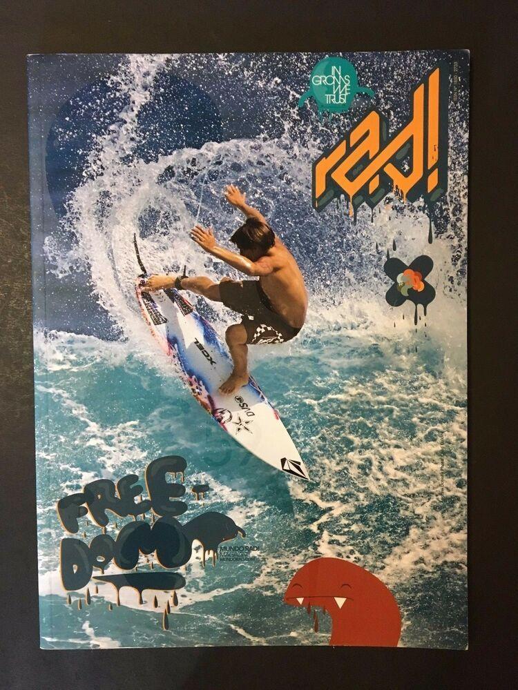 Freedom Mundo Rad Surfing Magazine 59 Surfers Surfboards 2007 Surf Ebay In 2020 Vintage Surf Surfing Surfer