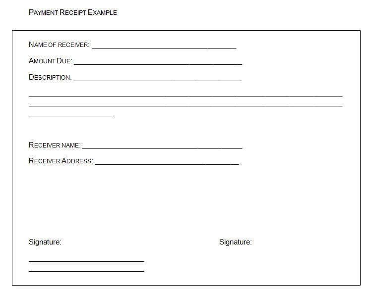PAYMENT RECEIPT EXAMPLE , The Proper Receipt Format for Payment - download rent receipt format