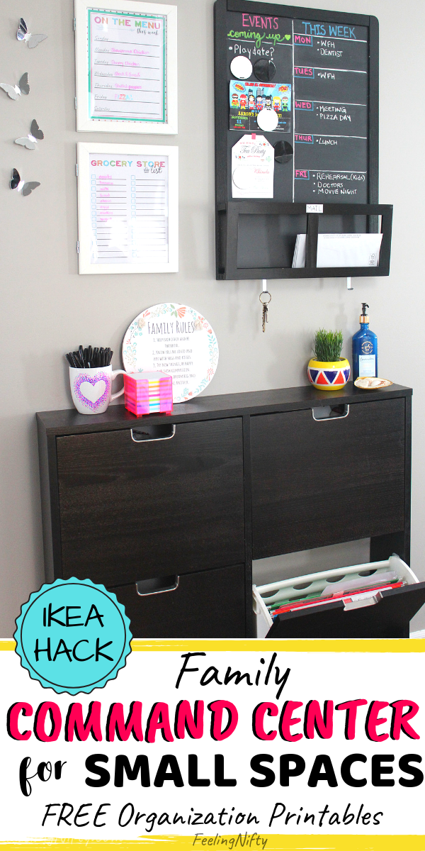 How To Organize The Family Command Center With Ikea Items You Ll Love Family Command Center Wall Family Command Center Command Center