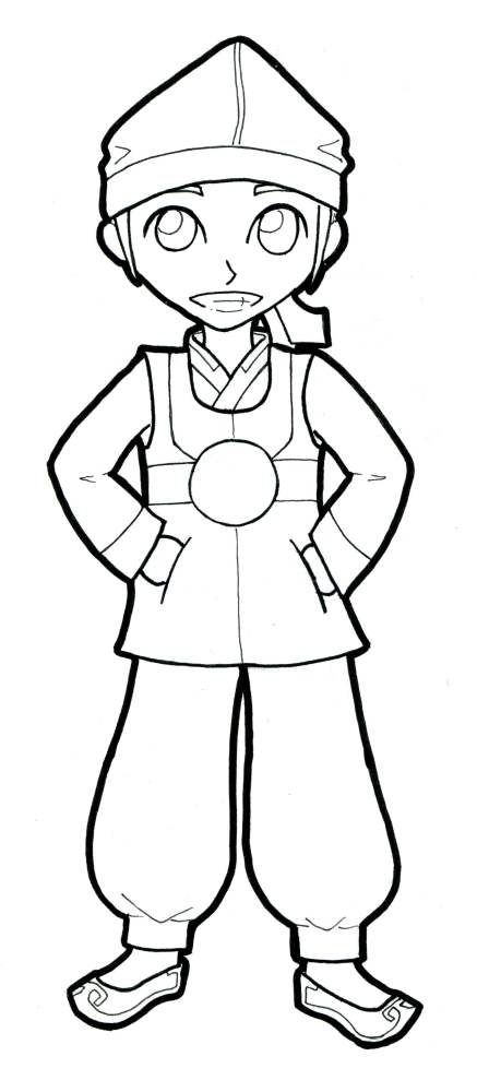 Boys Hanbok Line Drawing Google Search Flag Coloring Pages