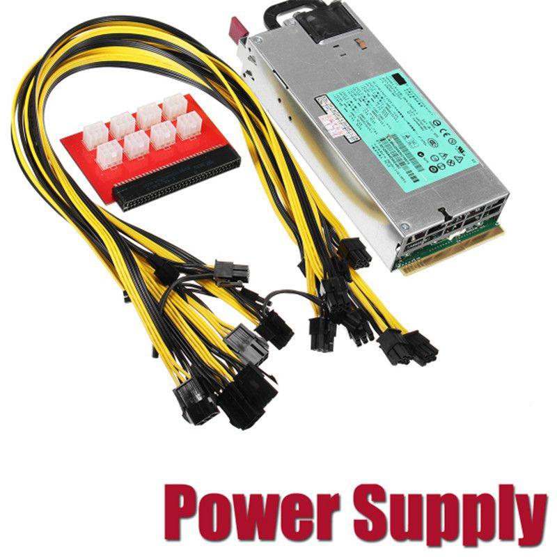 1200 W 900 W PSU Antiminer Mineur Alimentation pour GPU Ouvert banc - cable d alimentation electrique pour maison
