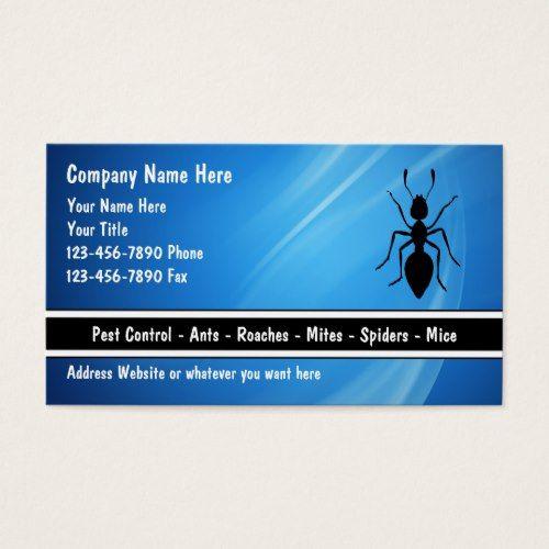 Exterminator Business Cards Zazzle Com Pest Control Exterminator Pests