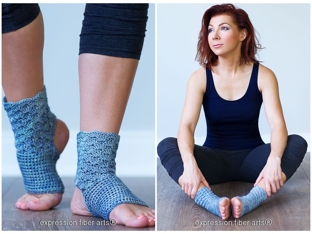 Prana Crochet Yoga Sock Pattern! | Pinterest | Dos agujas, Tejido y Sol