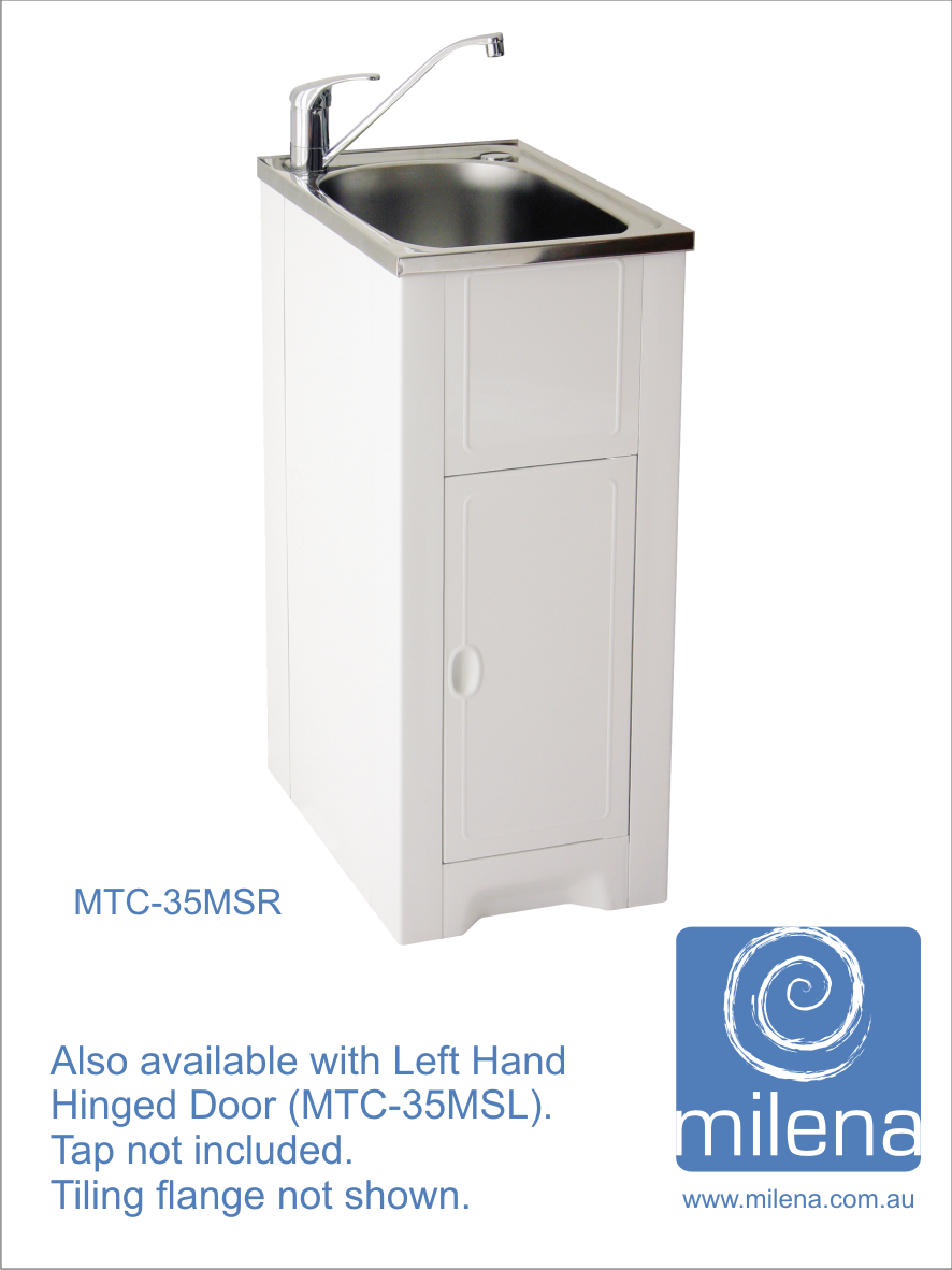 skinny mini cabinet with stainless