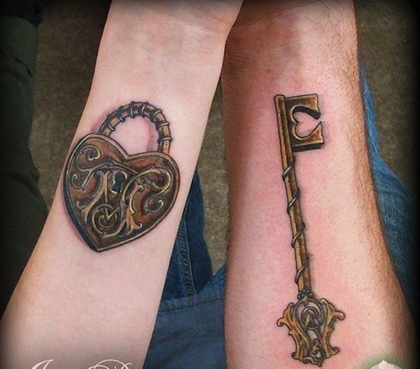 Lock and key tattoo - Some people who get a key tattoo, also get a ...