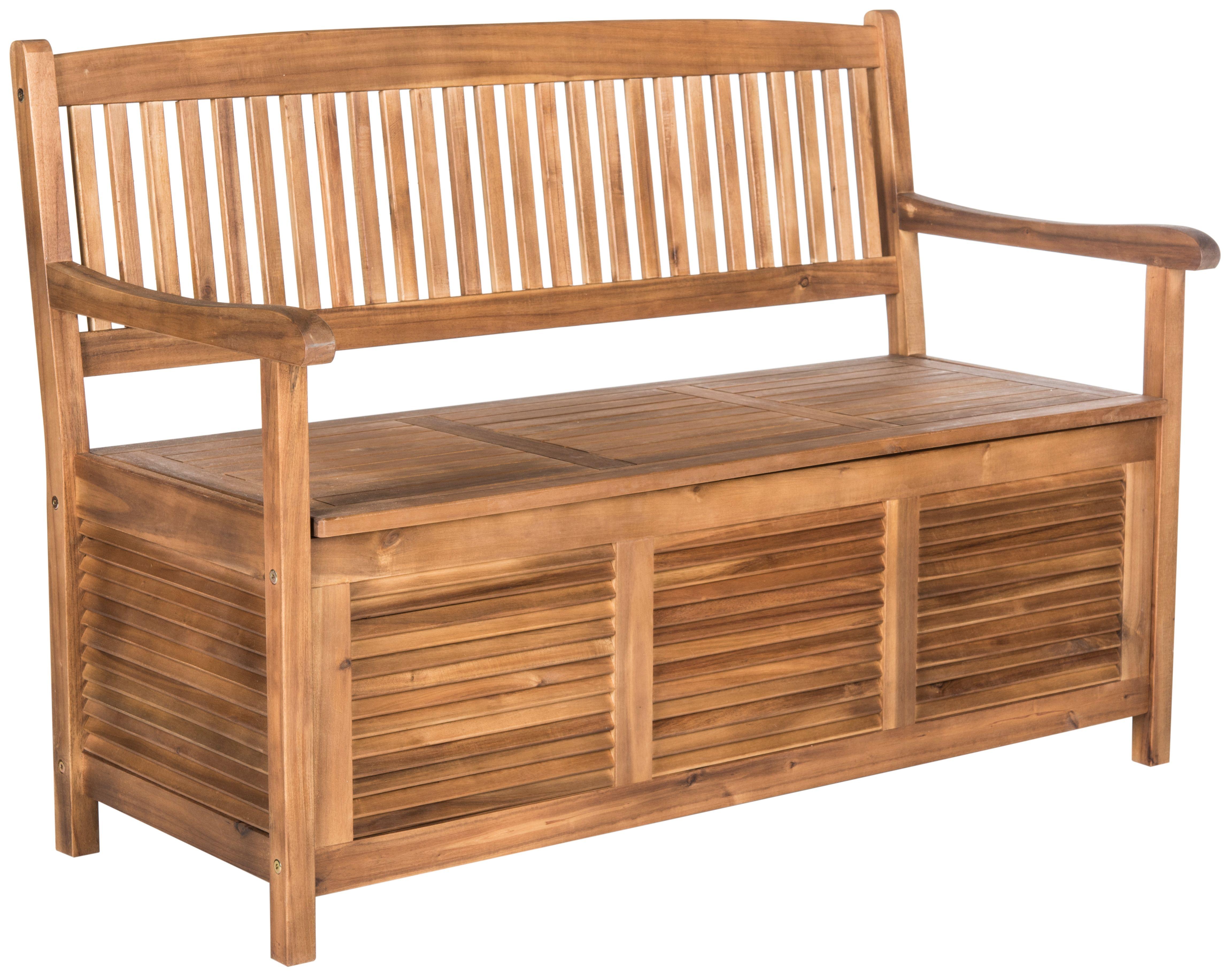 Halsted Storage Bench Teak Garden Storage Bench Wooden Storage