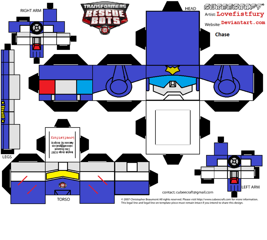 rescue bots chase cubee by ~lovefistfury on deviantART | Things for ...