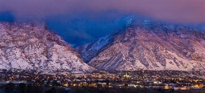 Provo Winter Mountain Glow by Robert A. Boyd