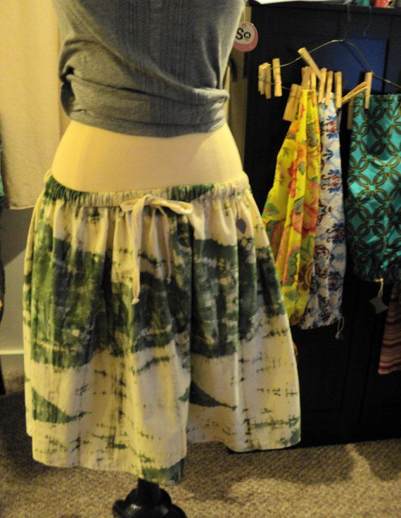 Springtime Sale Awesome Handmade green/khaki tie dye by leomeow, $18.00