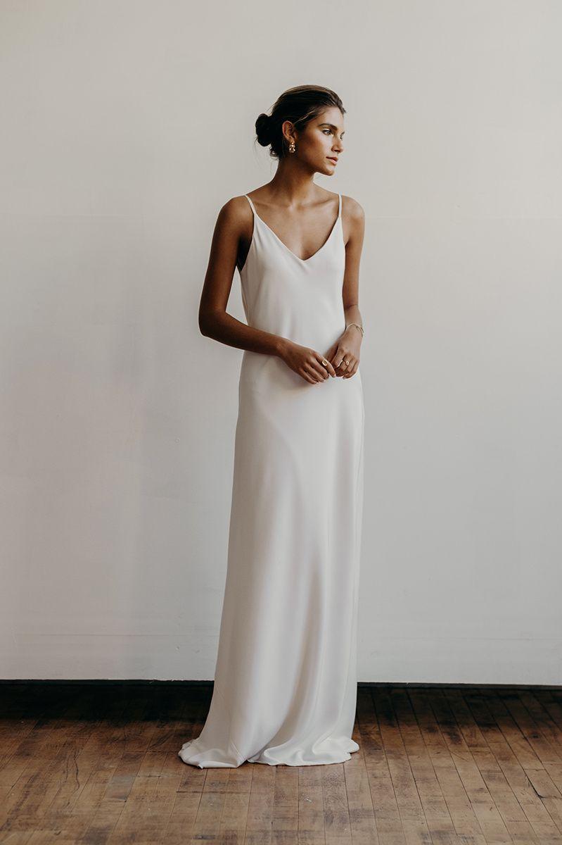 Addison dress front | Lena Medoyeff Studio | Bridal | Portland ...