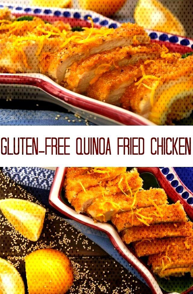 Gluten-Free Quinoa Crusted Fried Chicken | Cooking On The Weekends This Gluten-Free Quinoa Crusted