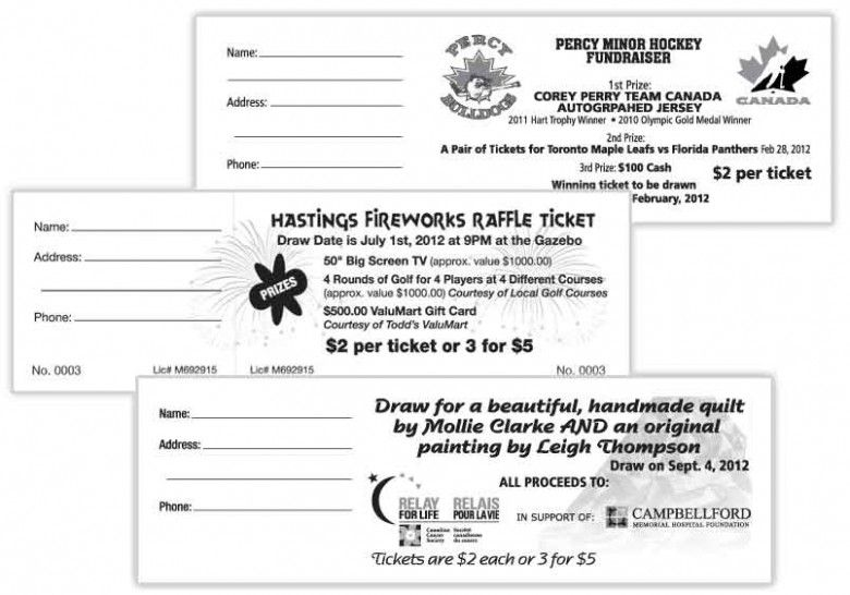 Averyprintableraffletickets Raffle Tickets For Fundraising Are