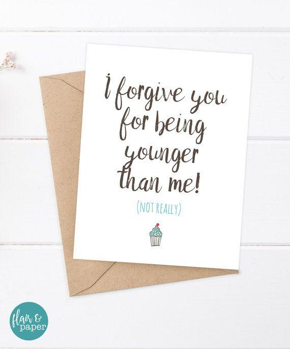 Friend Birthday Card Funny Birthday Card Snarky Card – Funny Friends Birthday Cards