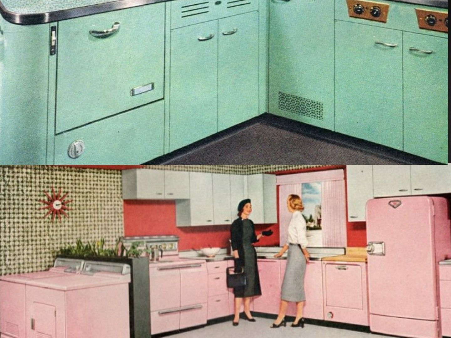 1950s Kitchen Color Trends Pink Turquoise Kitchen Color Trends 1950s Kitchen Retro Kitchen