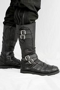 #Boots #Shoes Leather-Renaissance-Steampunk-Dragonskin-Riding-Boots-Vajra-Moto-by-Ayyawear