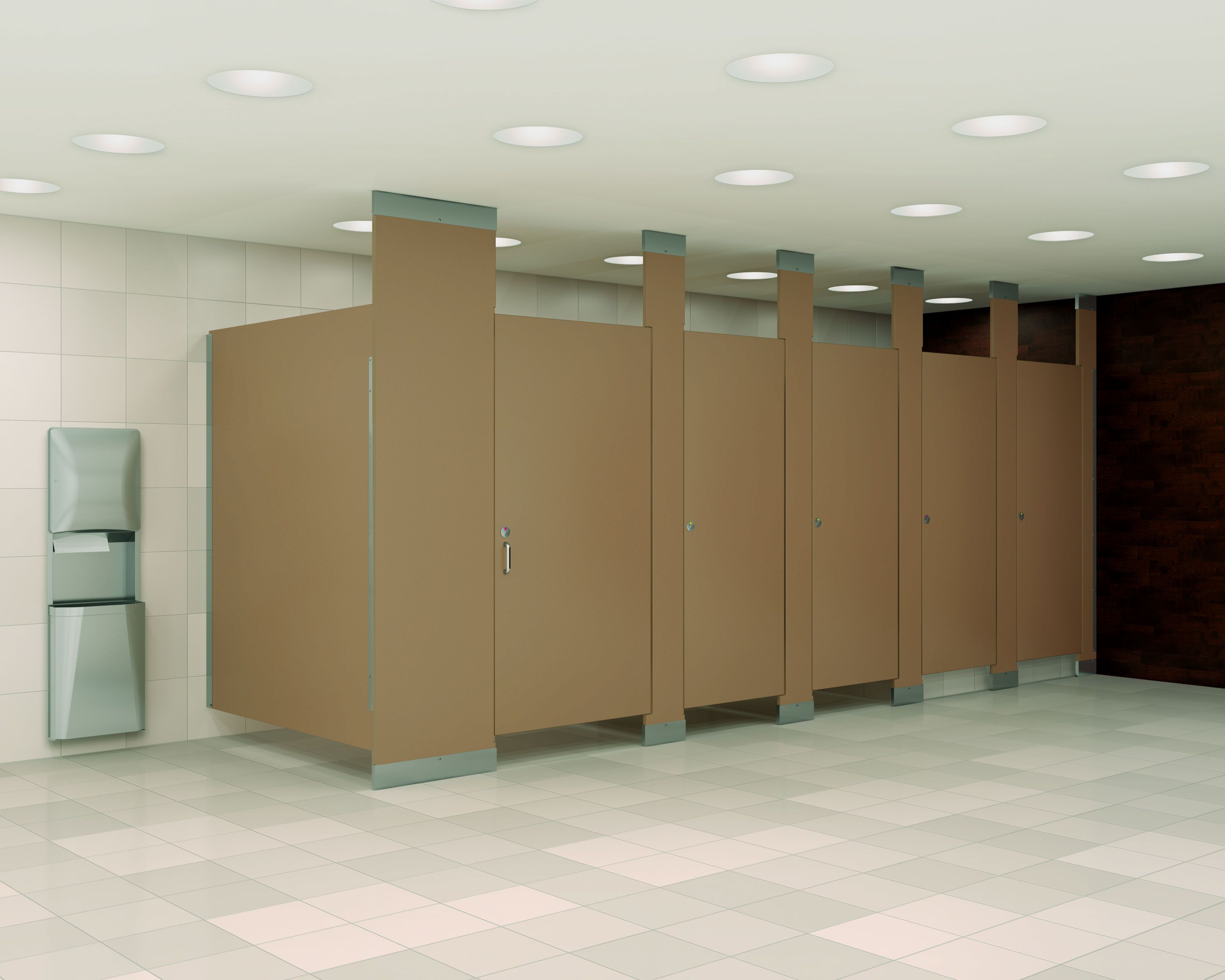 The Most Popular Material Choices For Stall Dividers For Commercial  Partitions For Industrial Bathrooms Can Range