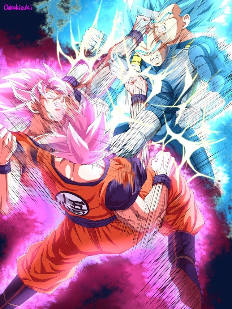 Goku Black Vs Vegeta Anime Dragon Ball Super Anime Dragon Ball Dragon Ball Artwork