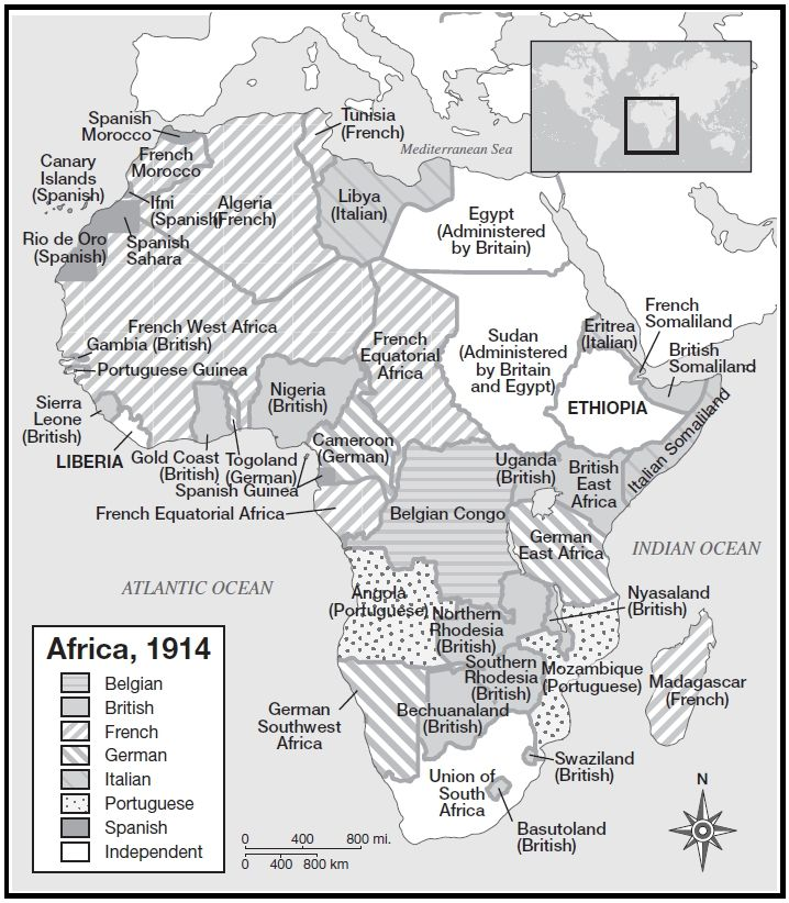 African Colonial History in a Map
