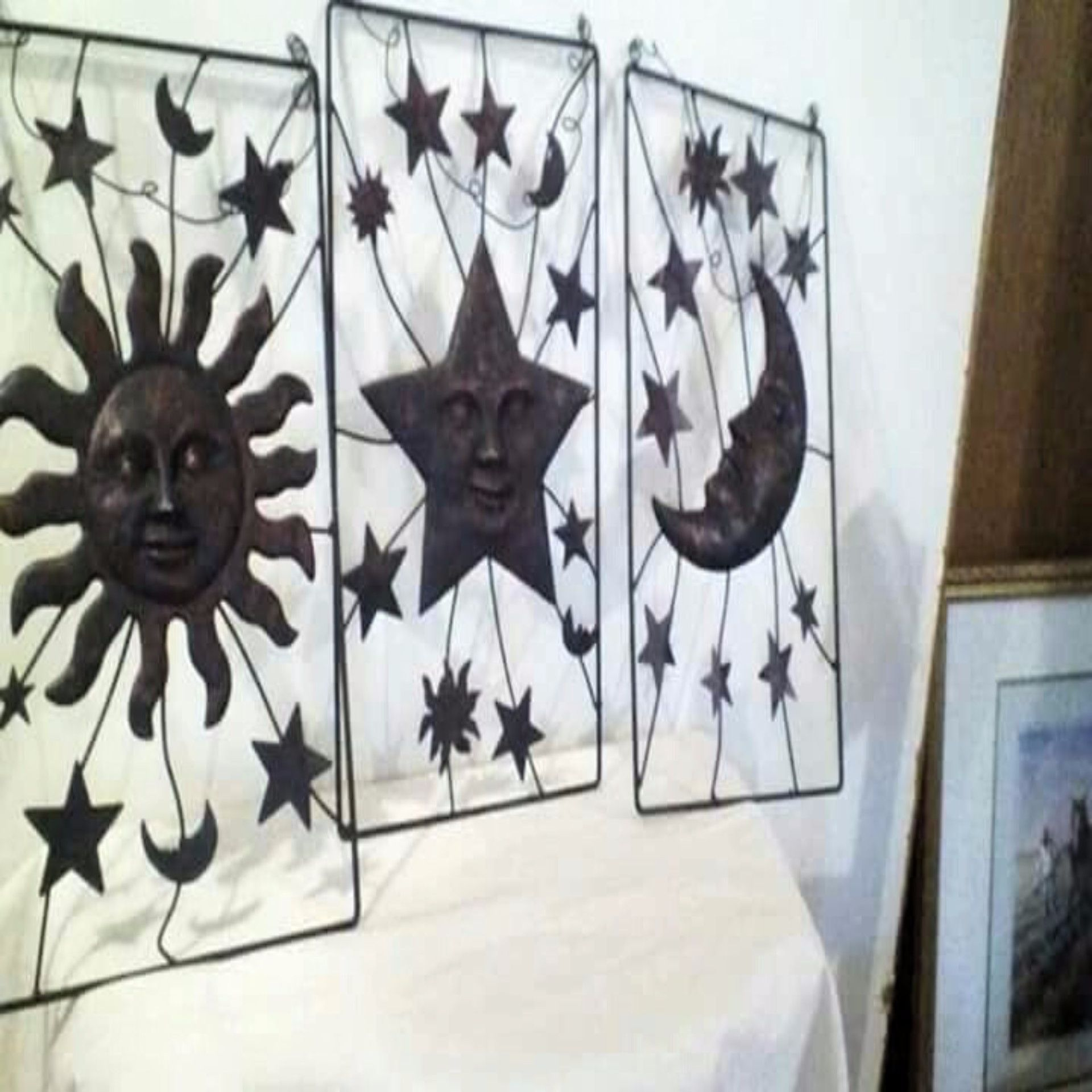Metal Moon, Stars, & Sun Plaques