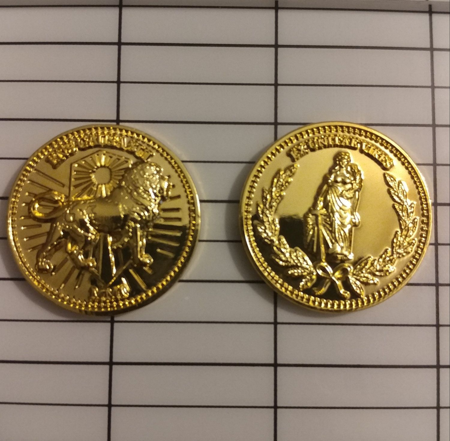 John wick coin replica movie prop approximately the size