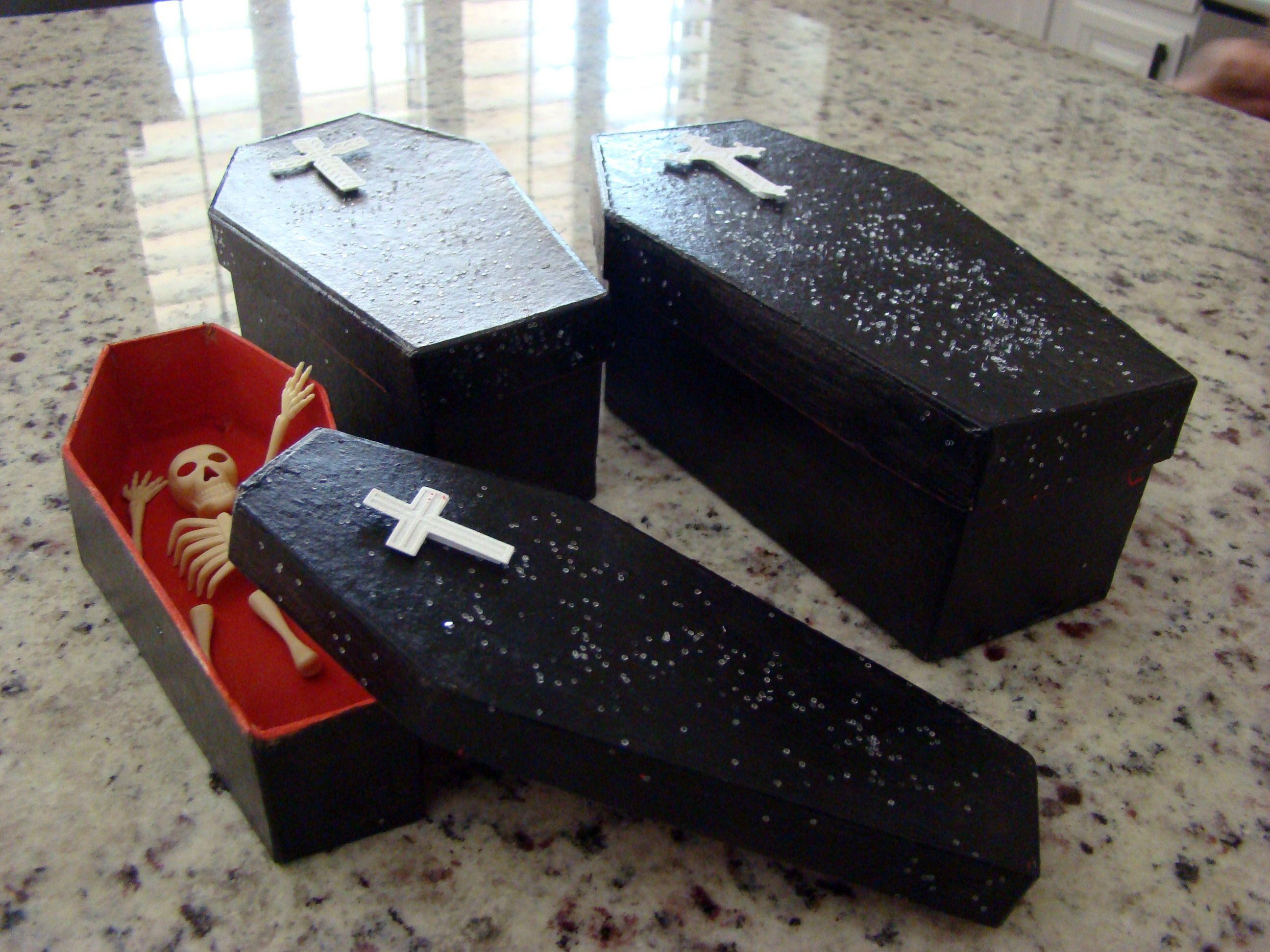 DIY paper mache coffins