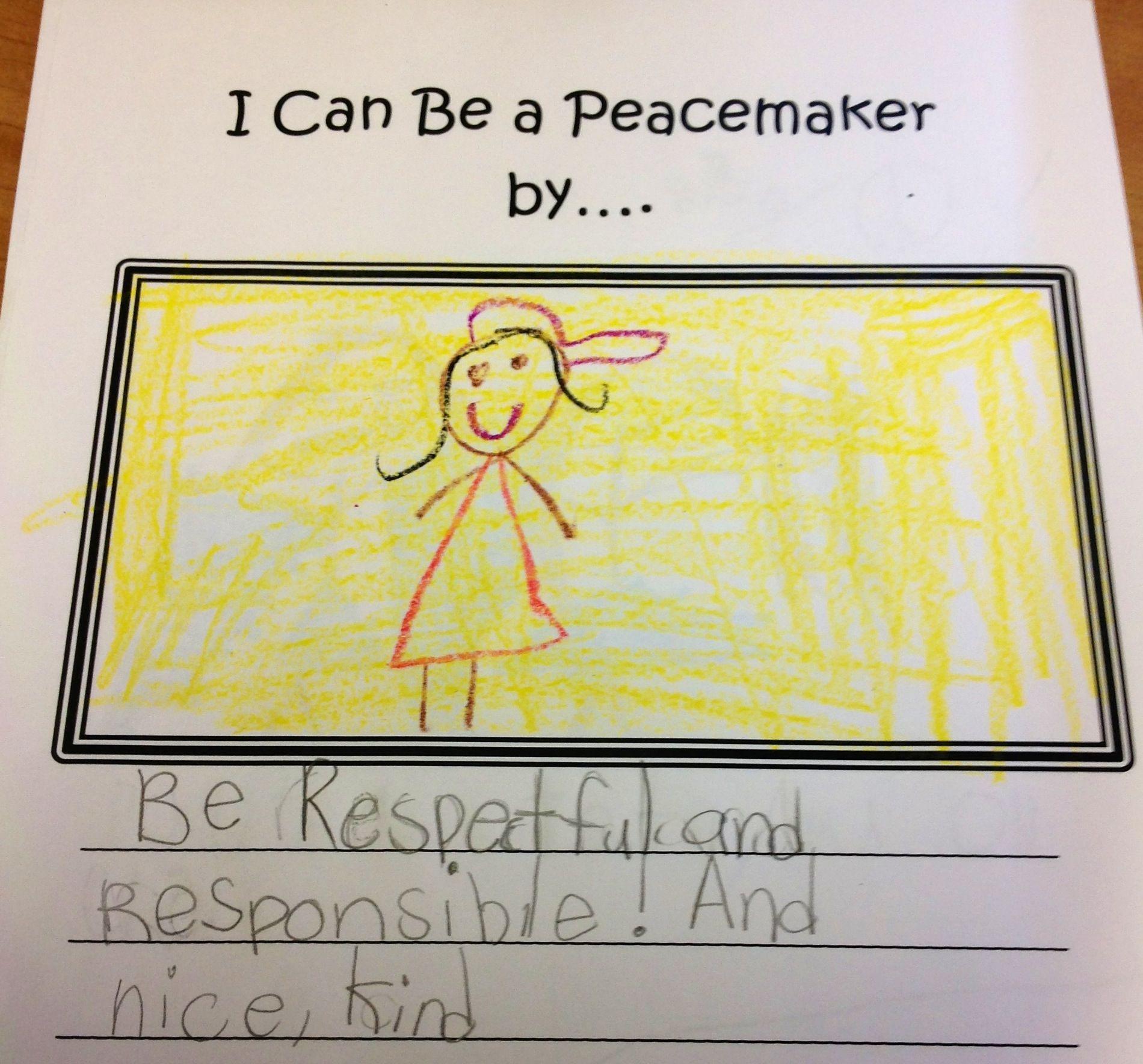 Peace Week Writing