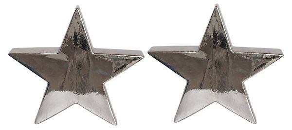- Sparkling Night Sky - S/2 Decorative Ceramic Stars, Small