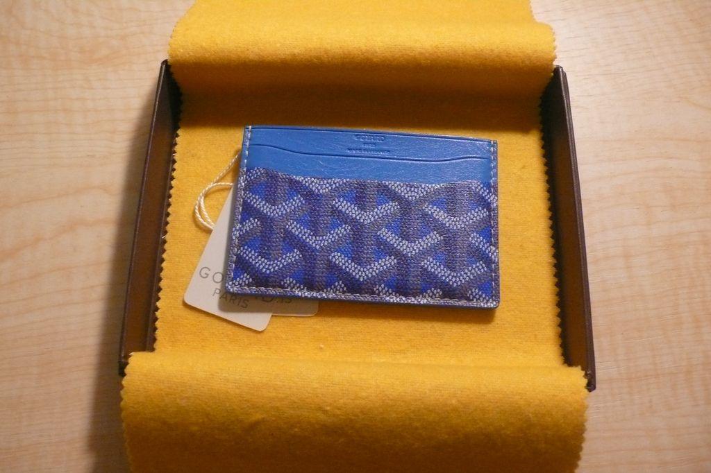 Goyard card case navydenim goyard wallet goyard card