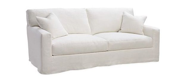 Slipcovered Sofa From Lee Industries In Sy White Cotton