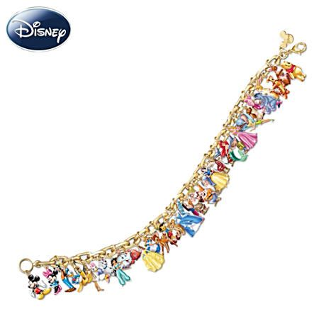I would love to have this Disney character charm bracelet by Bradford Exchange.