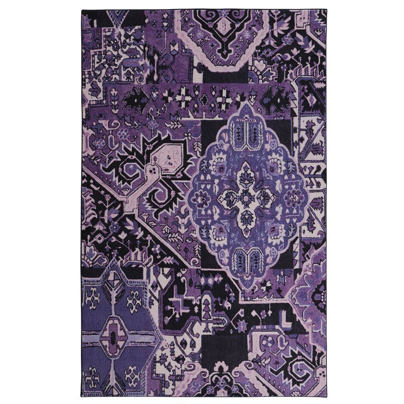 Claus Purple Area Rug