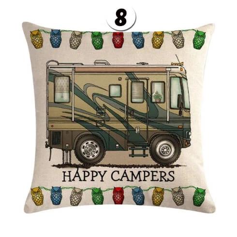 quotHappy Campersquot cushion cover