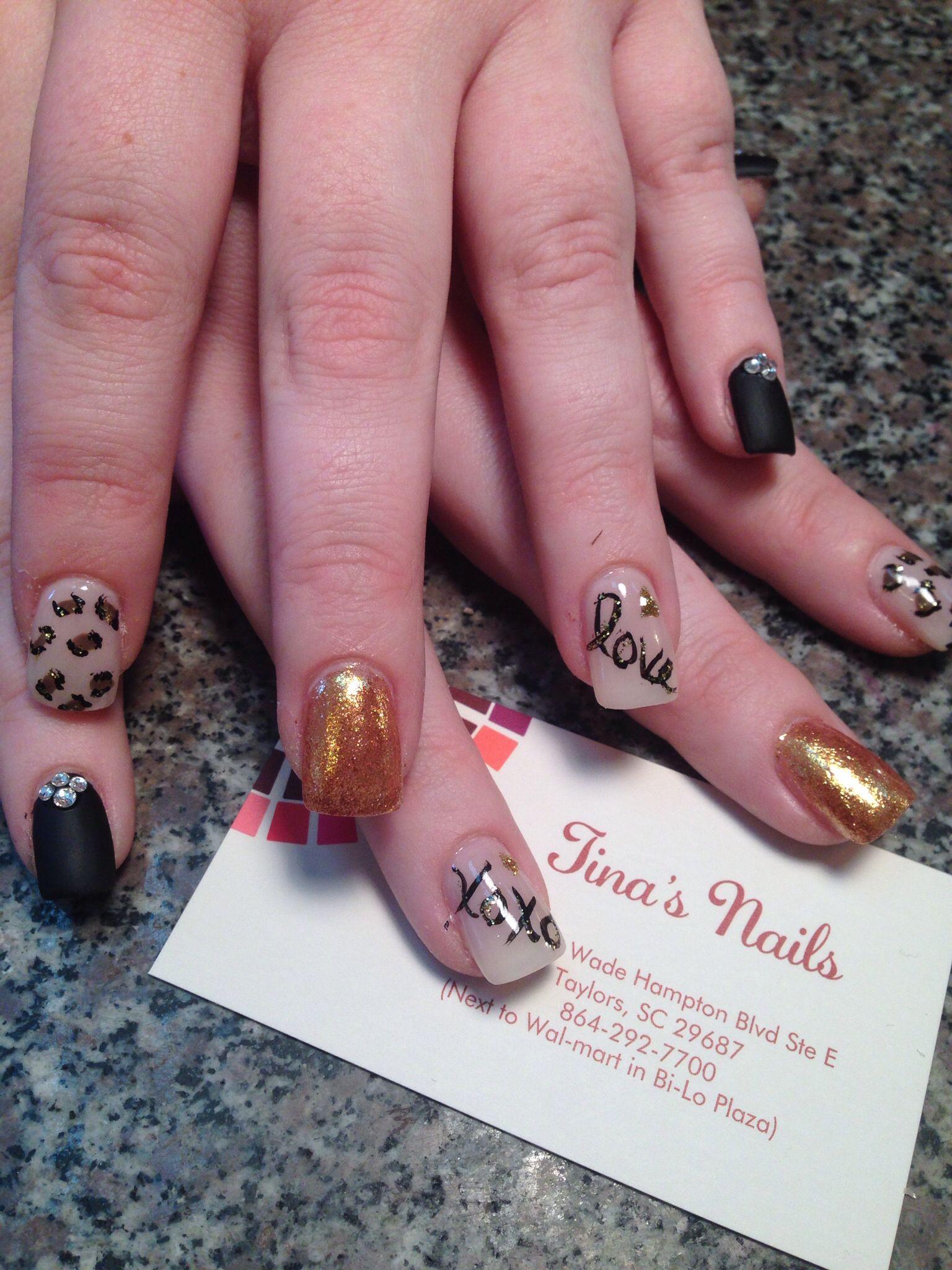 Nail Art Nail Designs Free Hand 3d Art Tinas Nails Designs From